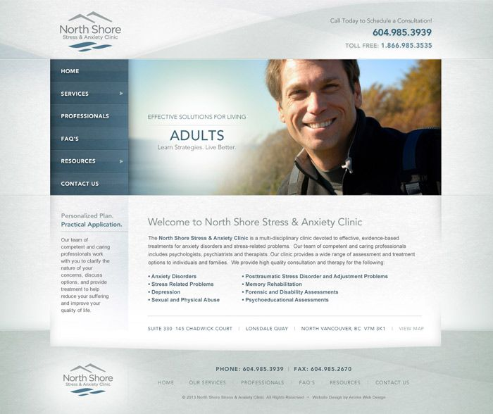 Therapy clinic website