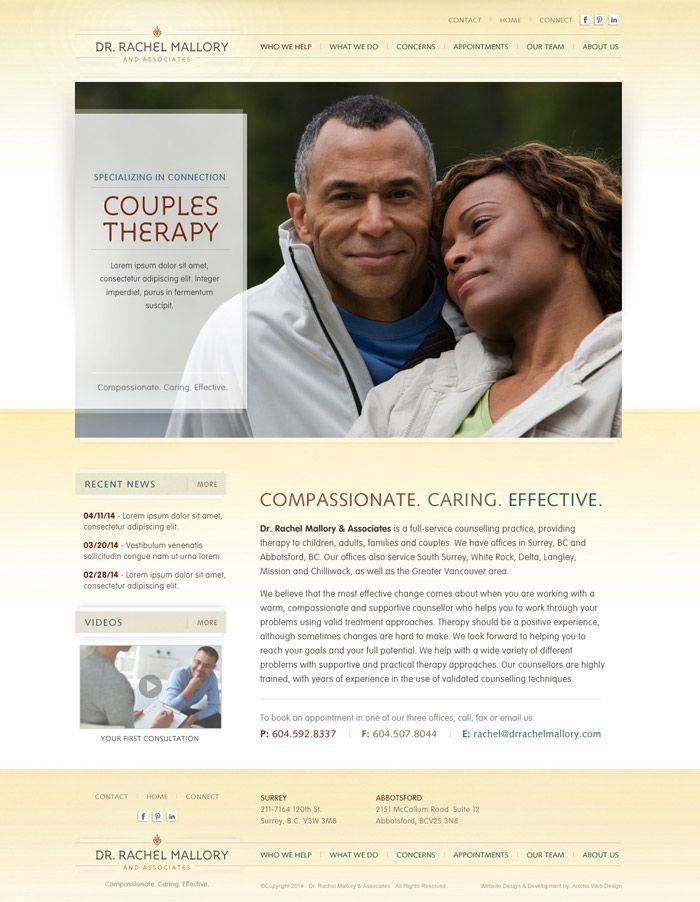 Counselling Clinic Website Design