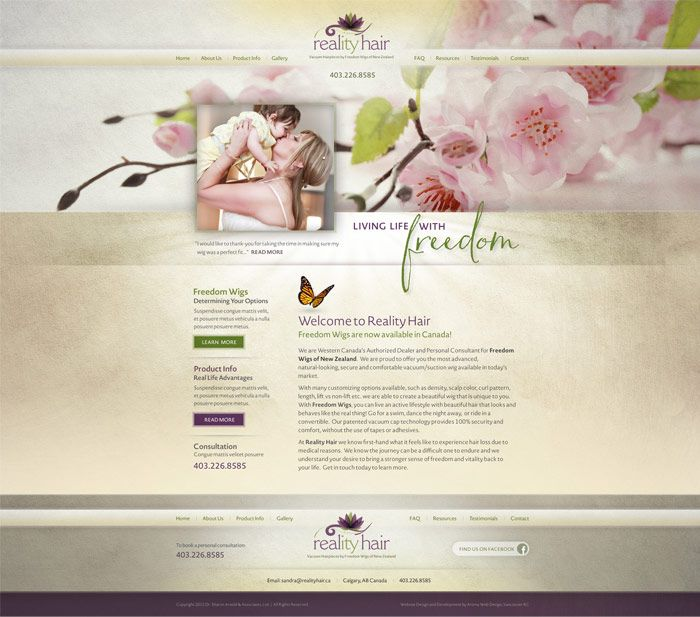 Creative therapist web design