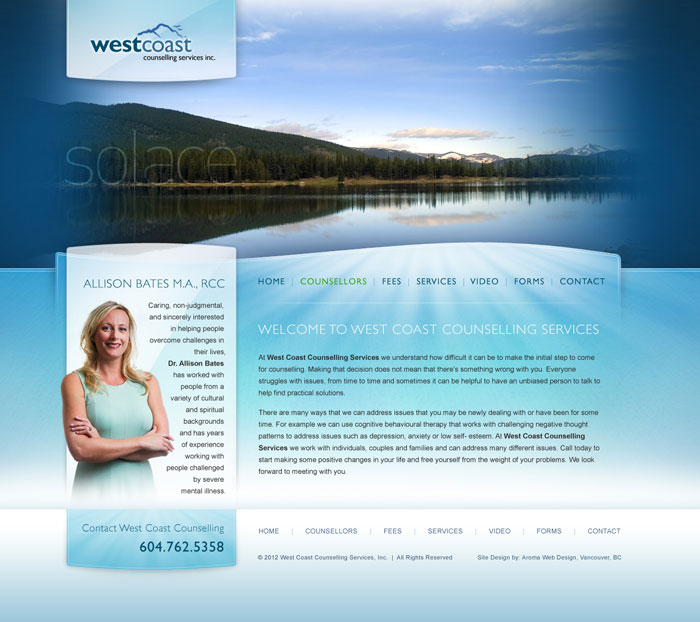Aroma Web Design Vancouver Web Design And Web Development